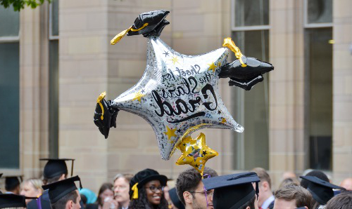 Graduation star balloon