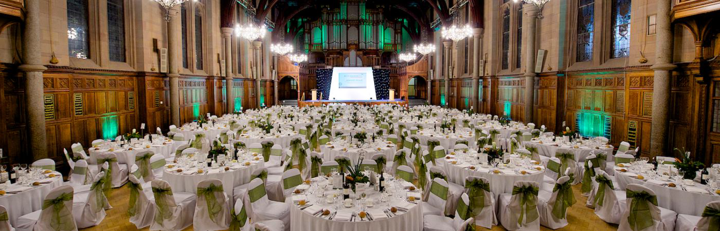 Whitworth Hall Green Gown dinner